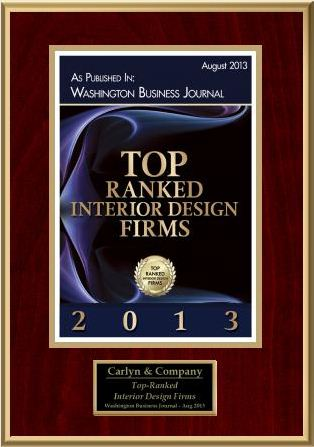 Carlyn and company ranked top rated interior design firm for Top 10 interior design companies