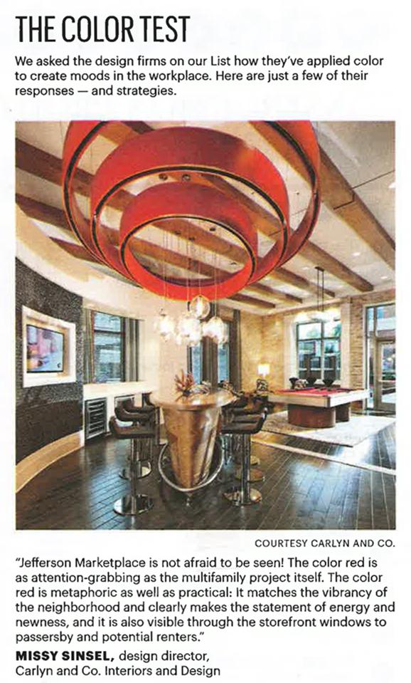 Carlyn and company ranked among top 25 interior design - Interior design firms washington dc ...